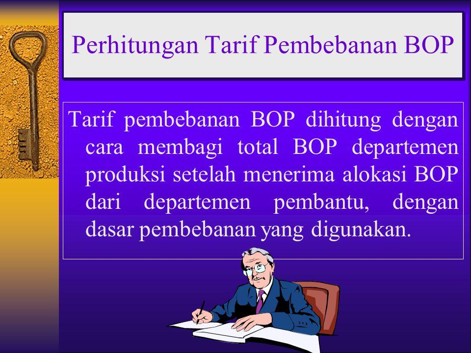 Perhitungan Tarif Pembebanan BOP