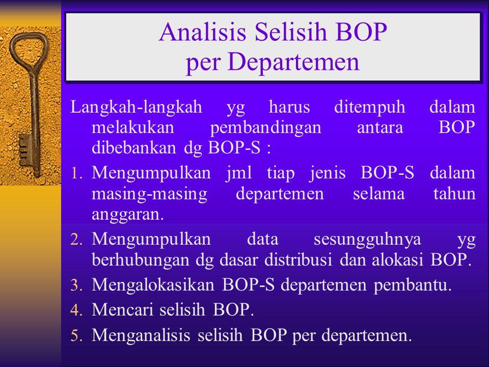 Analisis Selisih BOP per Departemen