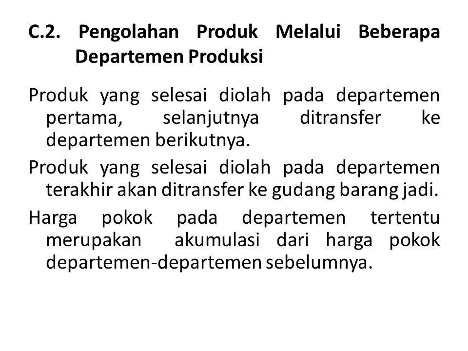 C.2. Pengolahan Produk Melalui Beberapa Departemen Produksi