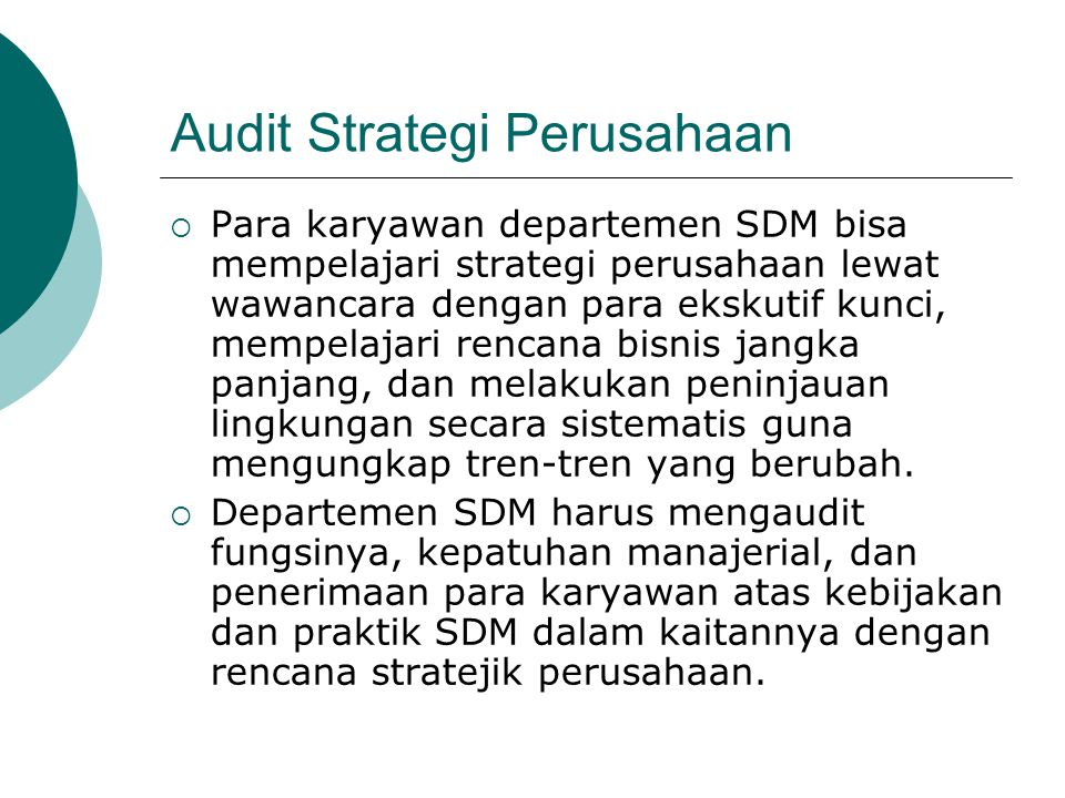 Audit Strategi Perusahaan