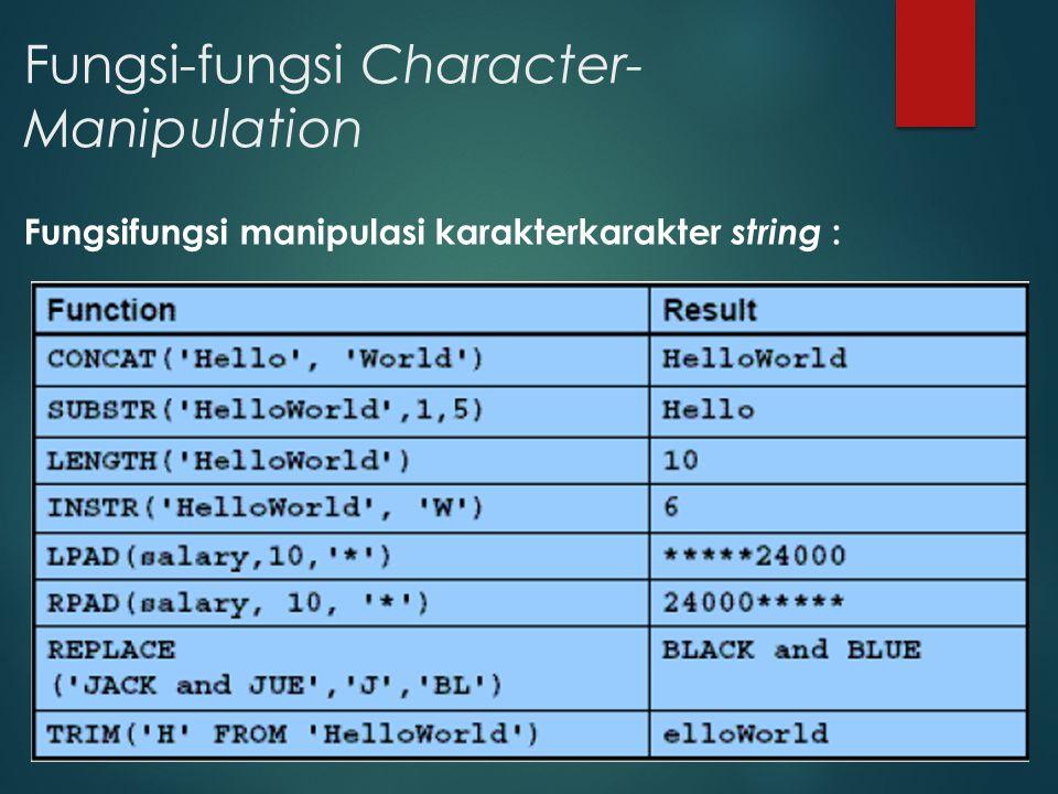 Fungsi-fungsi Character-Manipulation