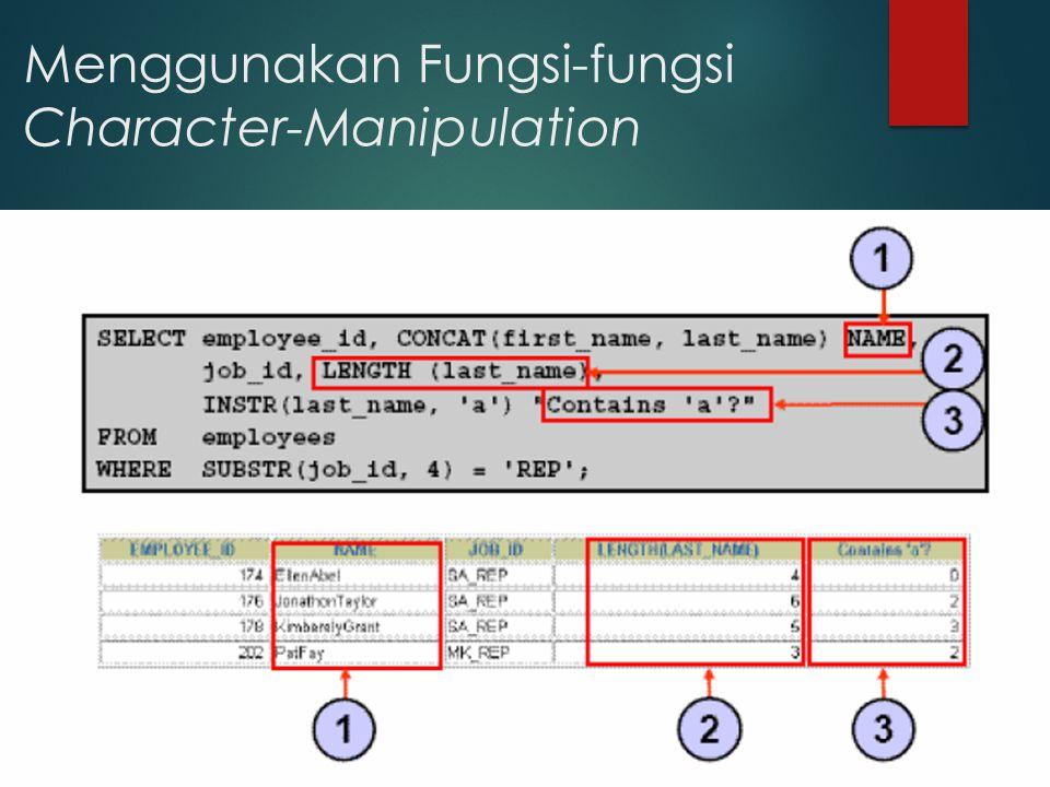 Menggunakan Fungsi-fungsi Character-Manipulation