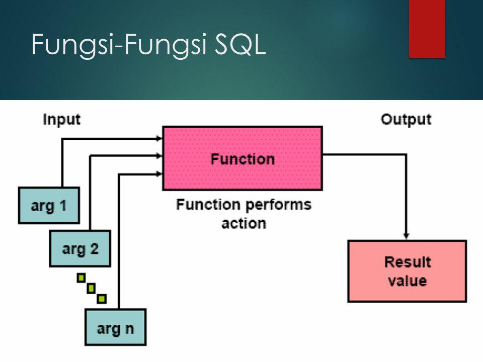 Fungsi-Fungsi SQL