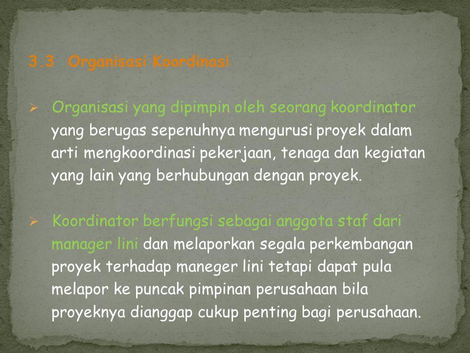 3.3 Organisasi Koordinasi