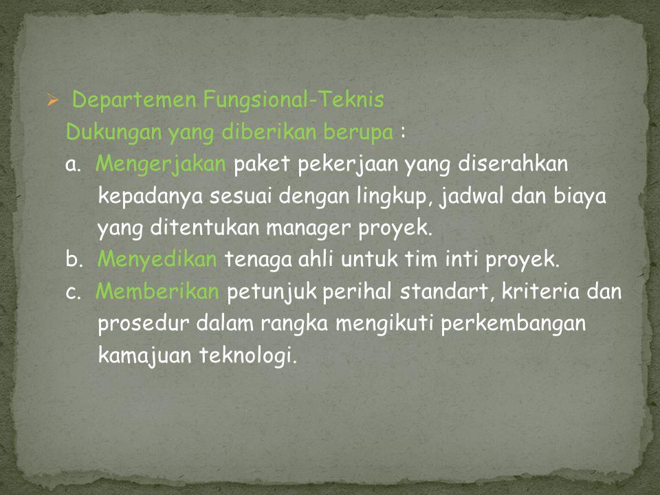 Departemen Fungsional-Teknis