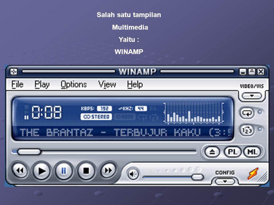 Salah satu tampilan Multimedia Yaitu : WINAMP