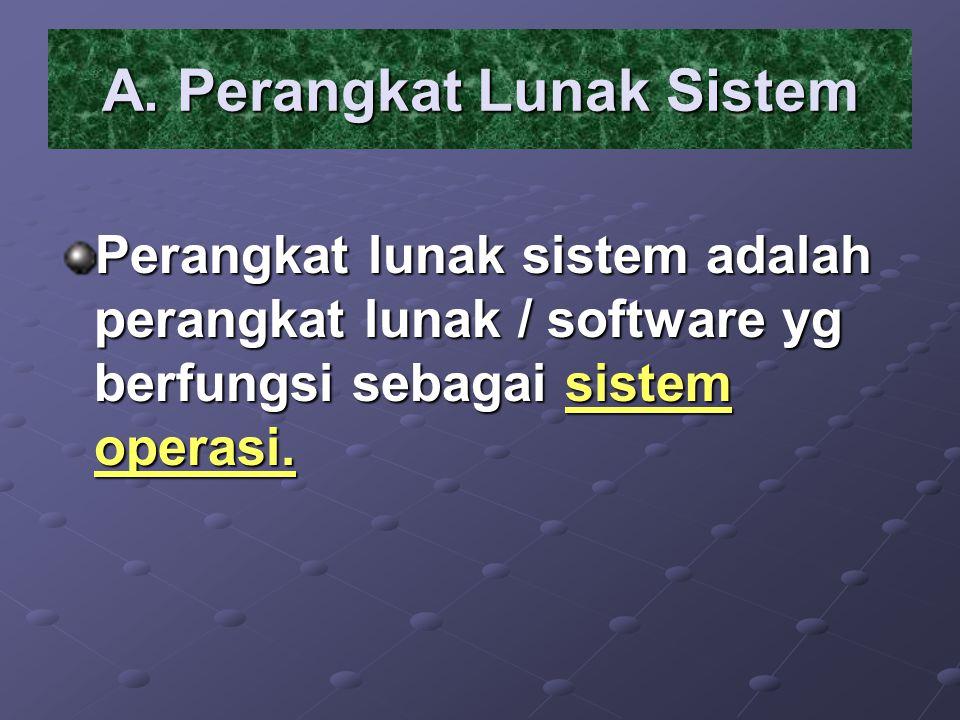 A. Perangkat Lunak Sistem