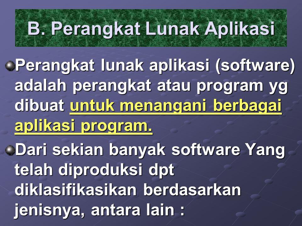 B. Perangkat Lunak Aplikasi