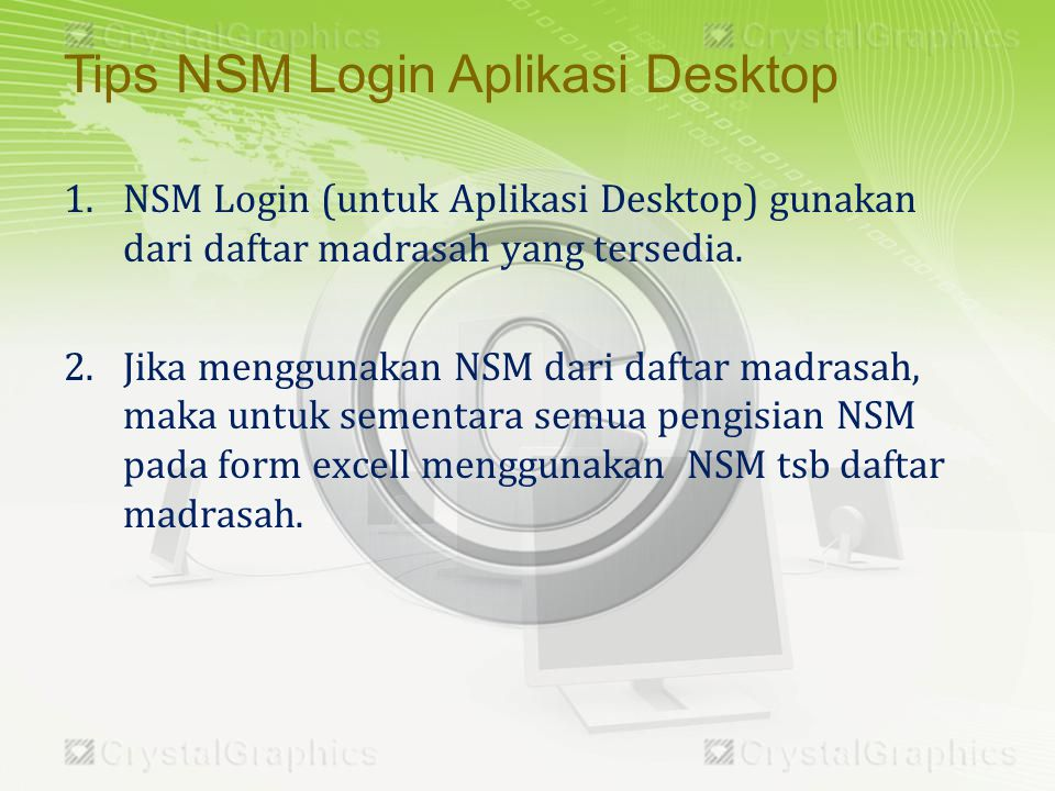 Tips NSM Login Aplikasi Desktop