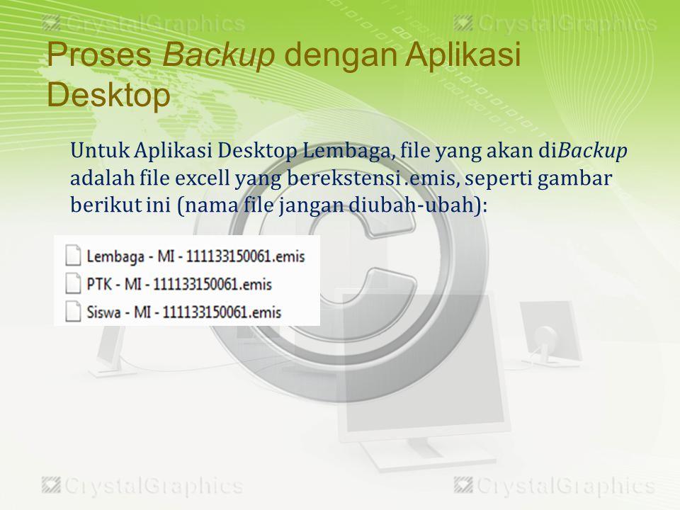 Proses Backup dengan Aplikasi Desktop