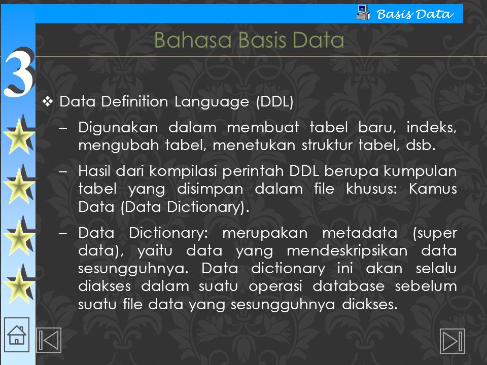 Bahasa Basis Data Data Definition Language (DDL)
