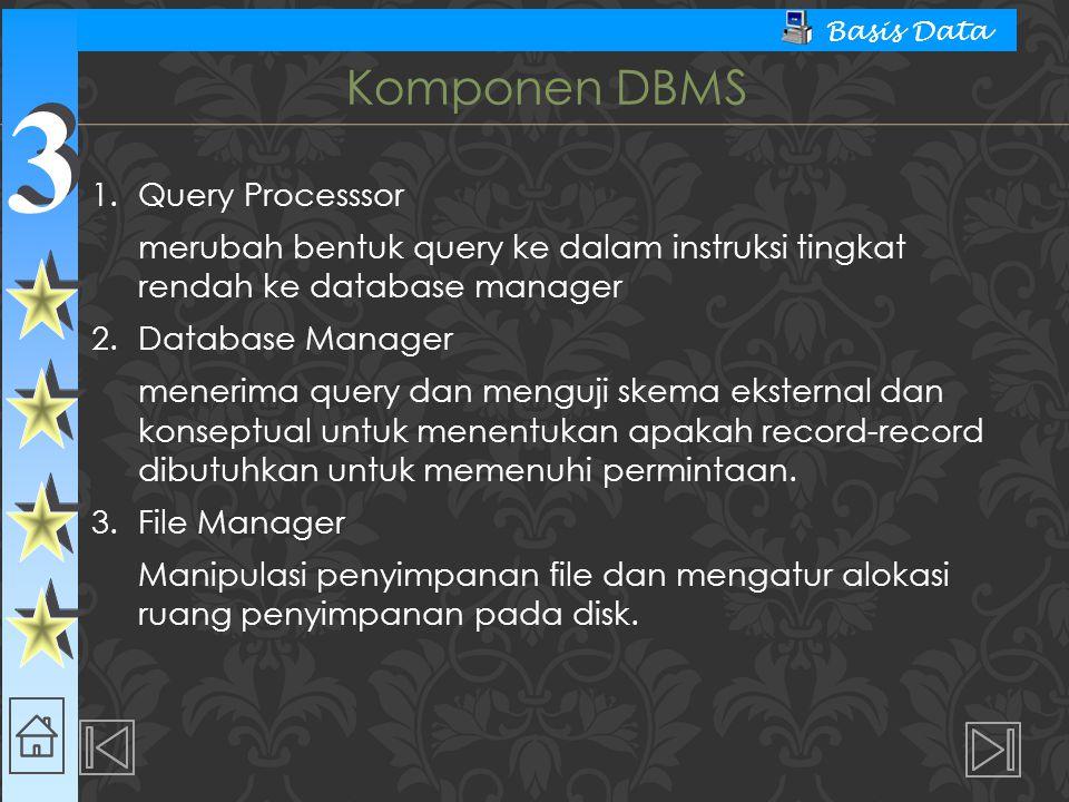 Komponen DBMS 1. Query Processsor