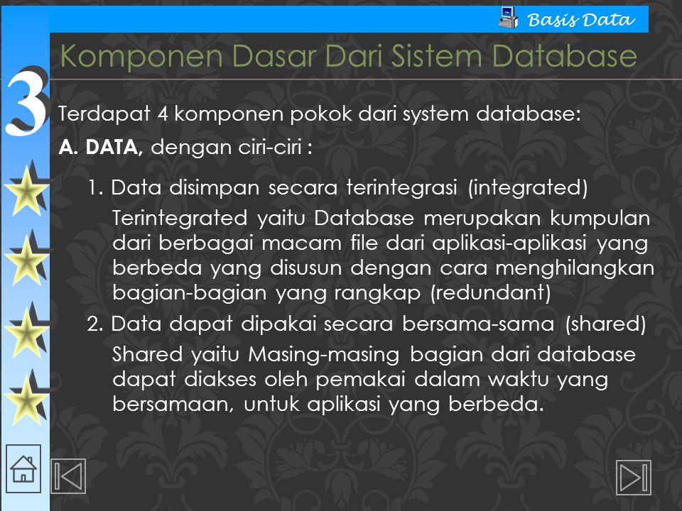 Komponen Dasar Dari Sistem Database