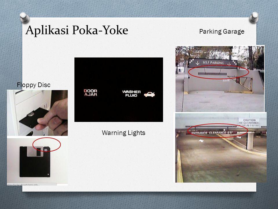 Aplikasi Poka-Yoke Parking Garage Floppy Disc Warning Lights