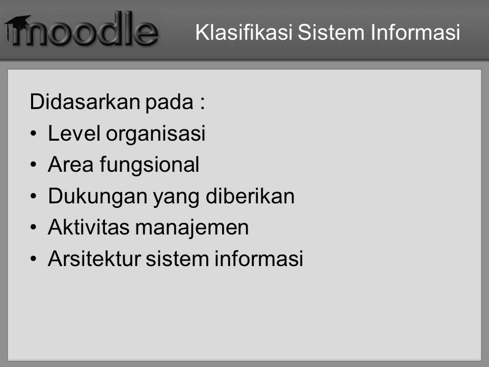 Klasifikasi Sistem Informasi