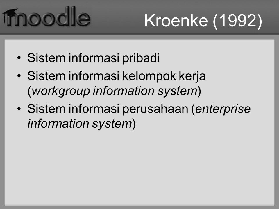 Kroenke (1992) Sistem informasi pribadi
