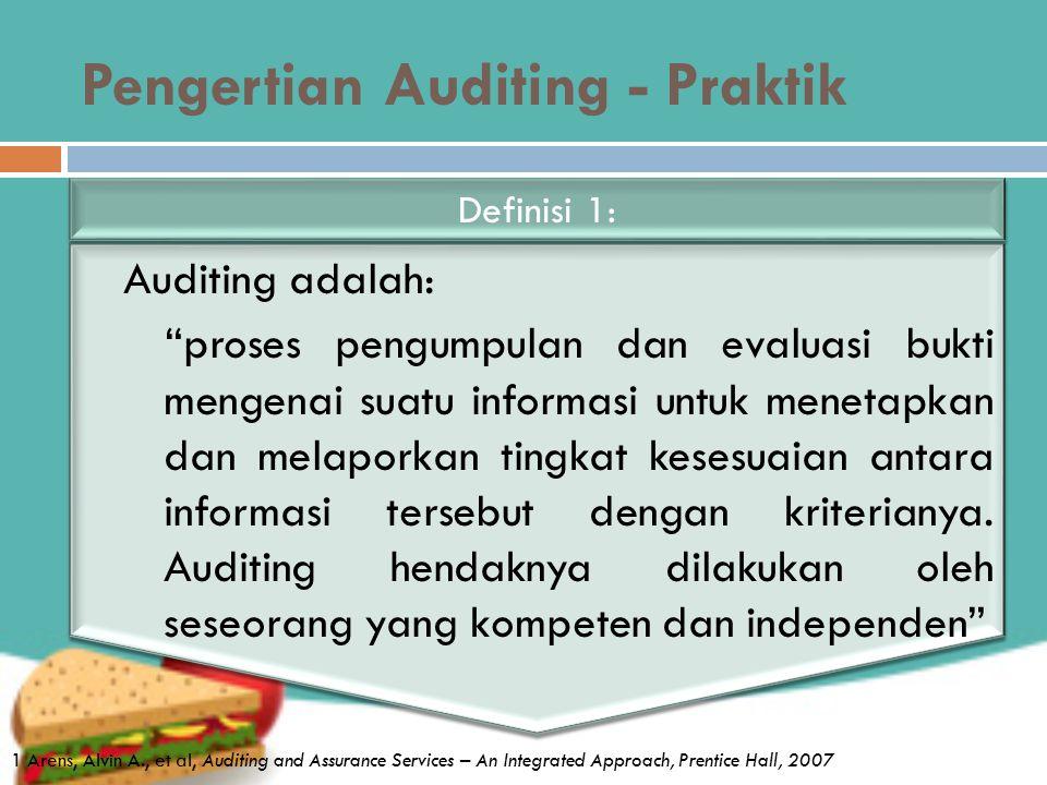 Pengertian Auditing - Praktik