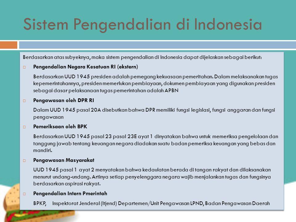 Sistem Pengendalian di Indonesia