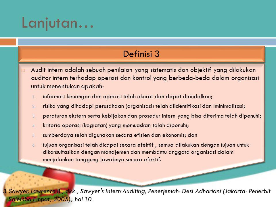 Lanjutan… Definisi 3.