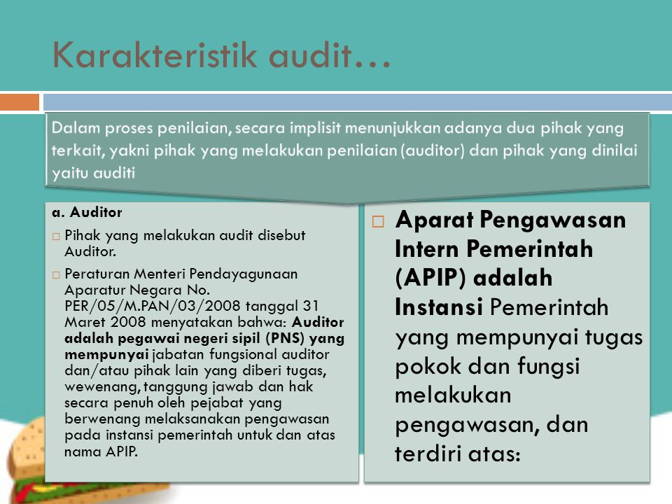 Karakteristik audit…