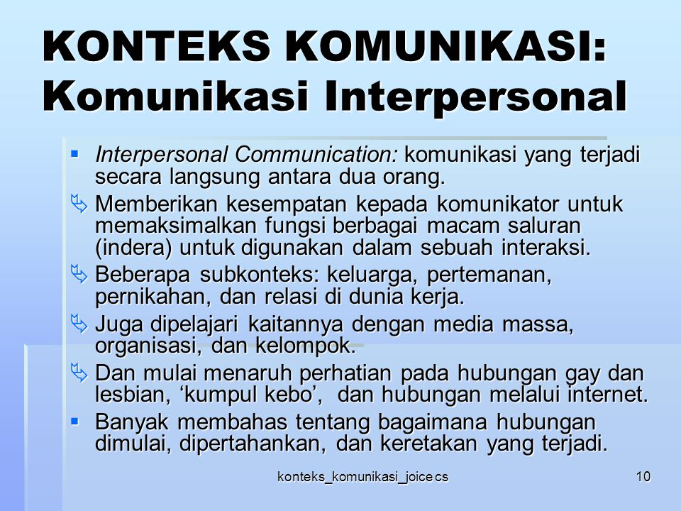 Free Interpersonal Communication Books - Work911