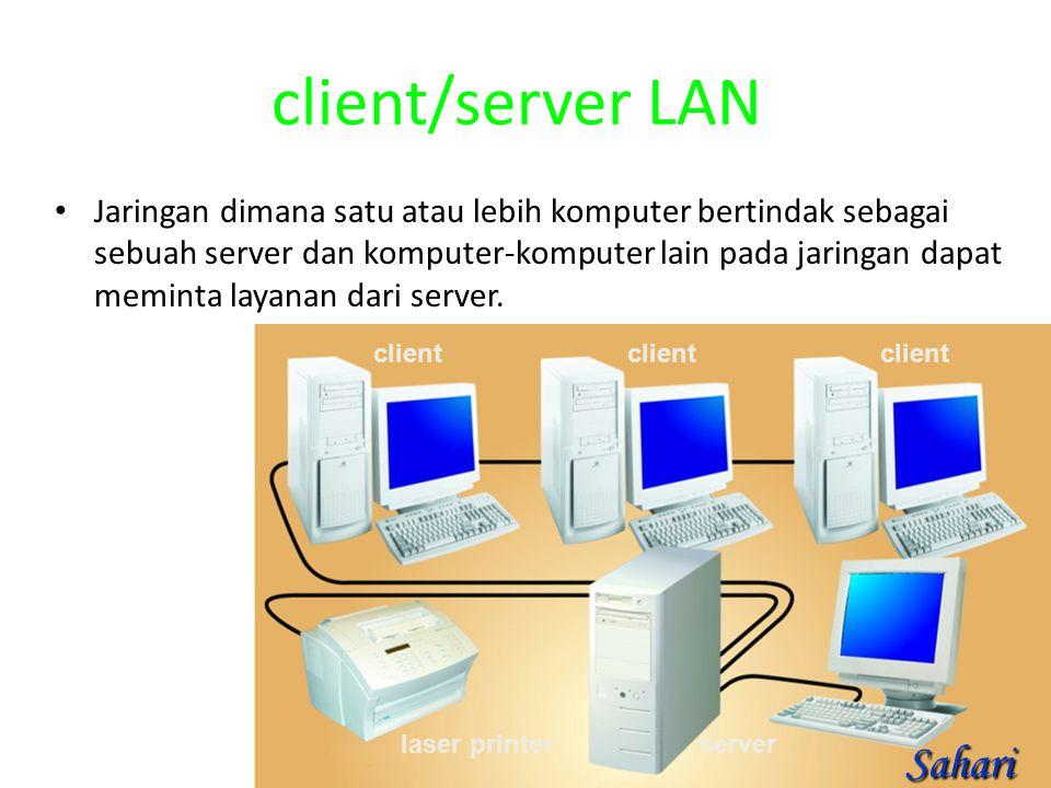 client/server LAN Sahari