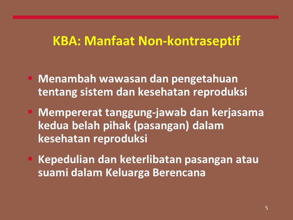KBA: Manfaat Non-kontraseptif