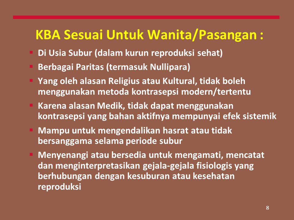KBA Sesuai Untuk Wanita/Pasangan :