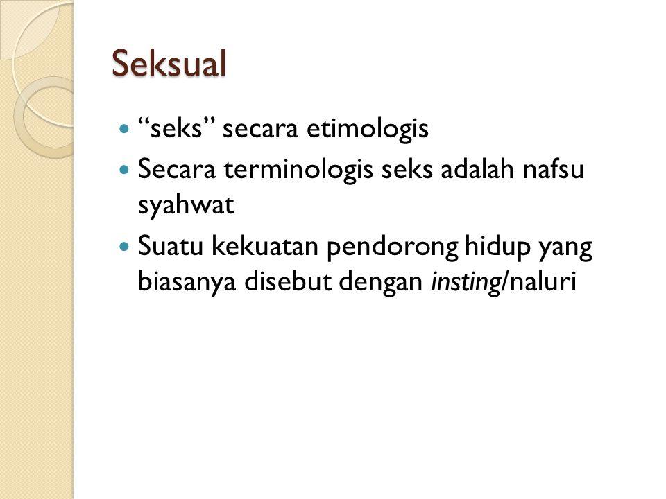 Seksual seks secara etimologis