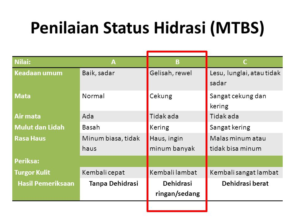 Penilaian Status Hidrasi (MTBS)