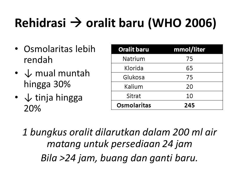 Rehidrasi  oralit baru (WHO 2006)