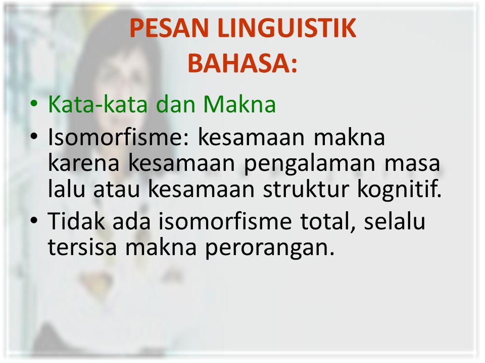 PESAN LINGUISTIK BAHASA: