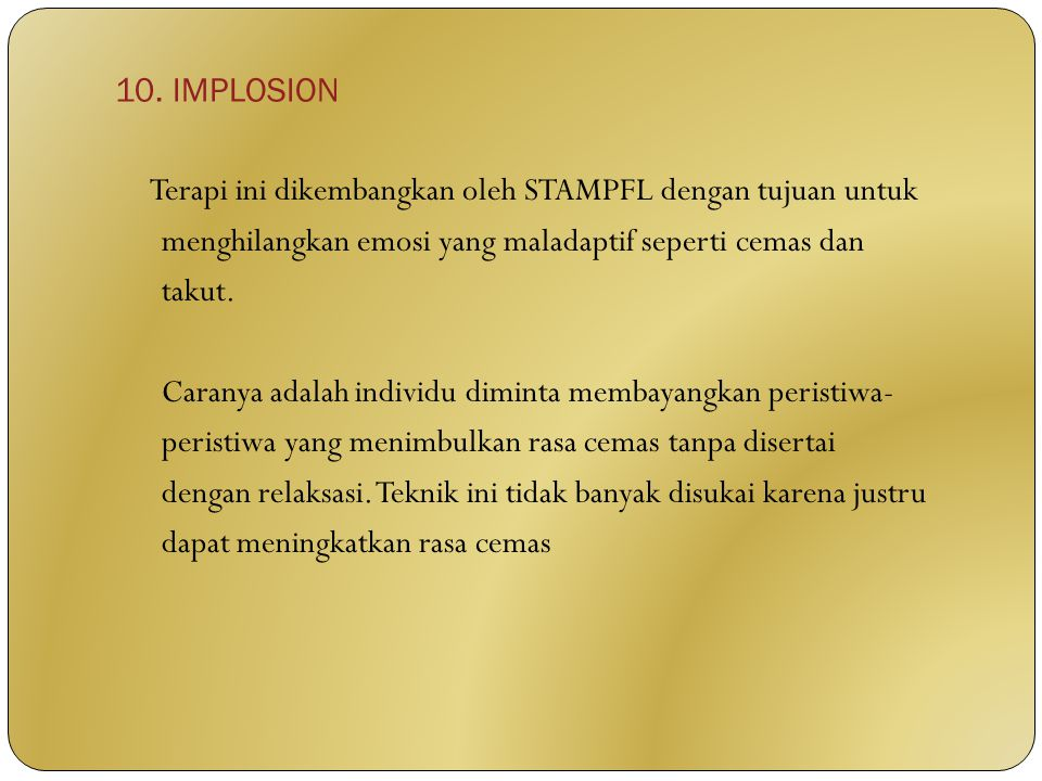 10. IMPLOSION