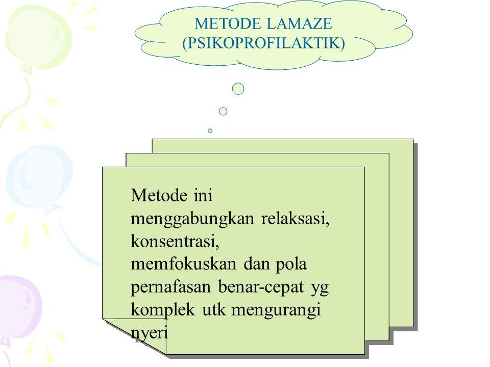 METODE LAMAZE (PSIKOPROFILAKTIK)