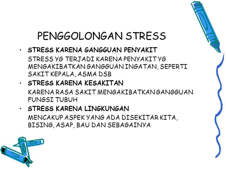 PENGGOLONGAN STRESS STRESS KARENA GANGGUAN PENYAKIT