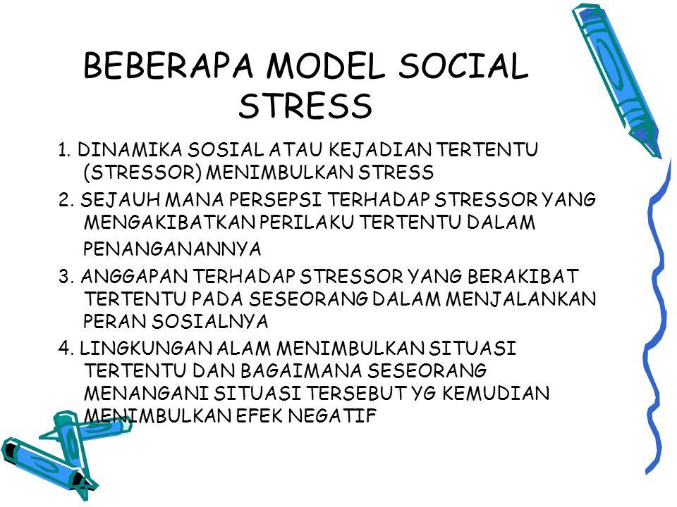 BEBERAPA MODEL SOCIAL STRESS