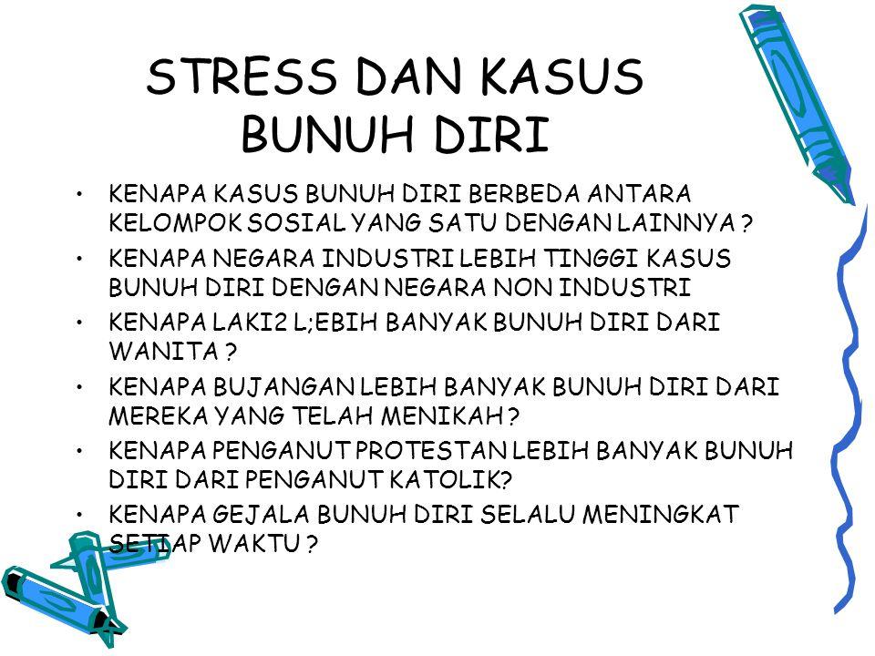 STRESS DAN KASUS BUNUH DIRI