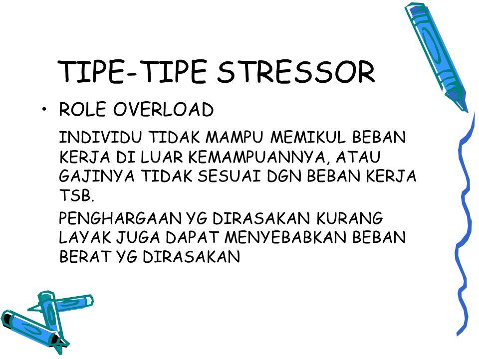 TIPE-TIPE STRESSOR ROLE OVERLOAD