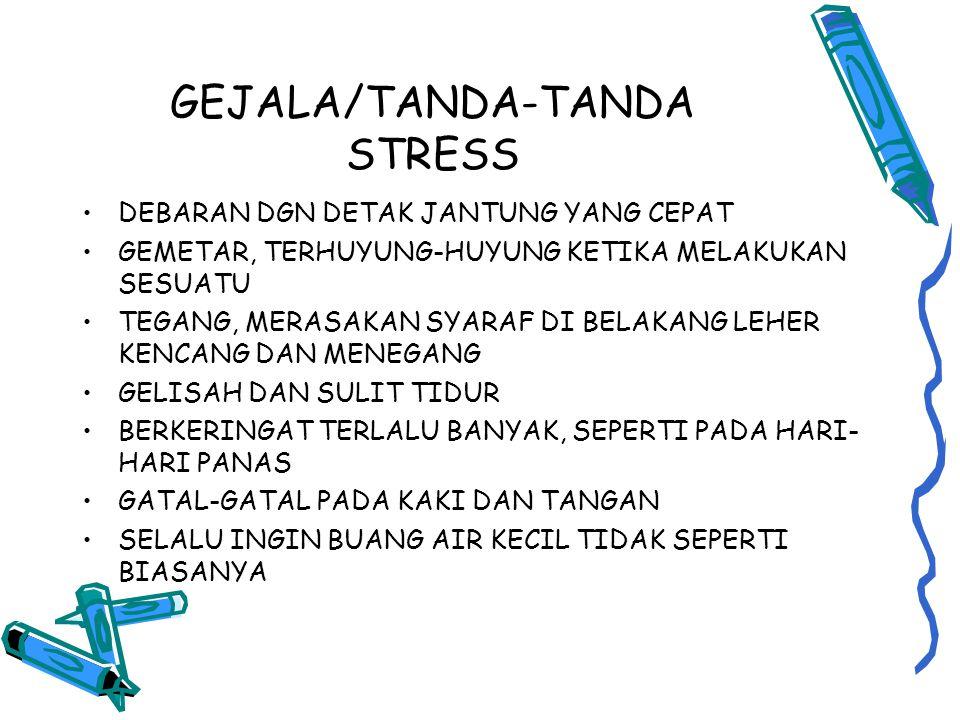 GEJALA/TANDA-TANDA STRESS