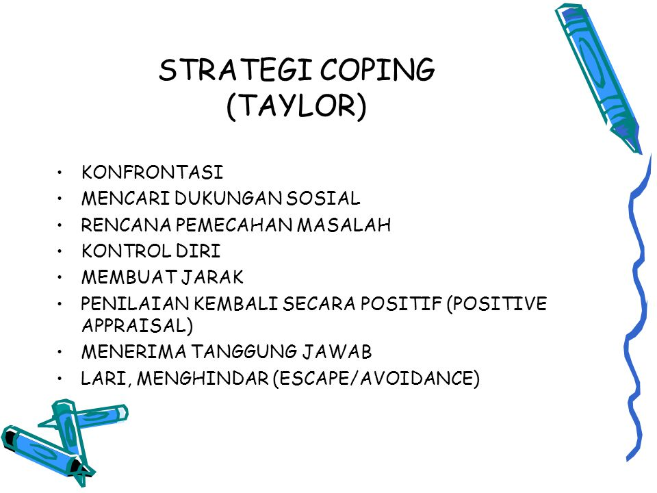 STRATEGI COPING (TAYLOR)