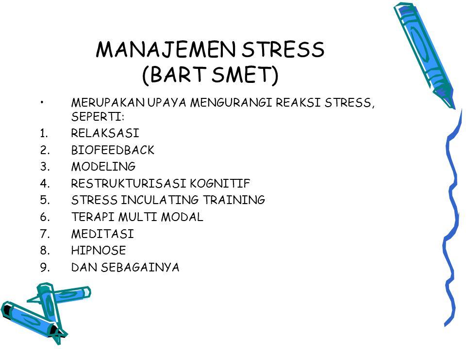 MANAJEMEN STRESS (BART SMET)