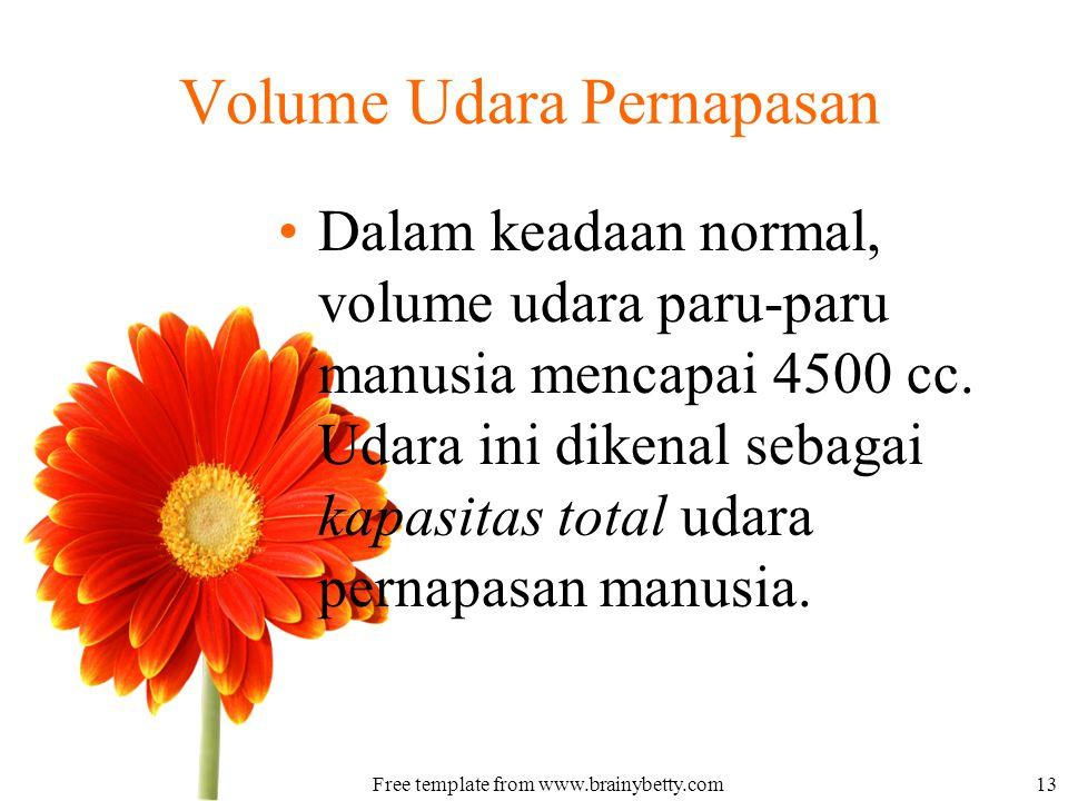 Volume Udara Pernapasan