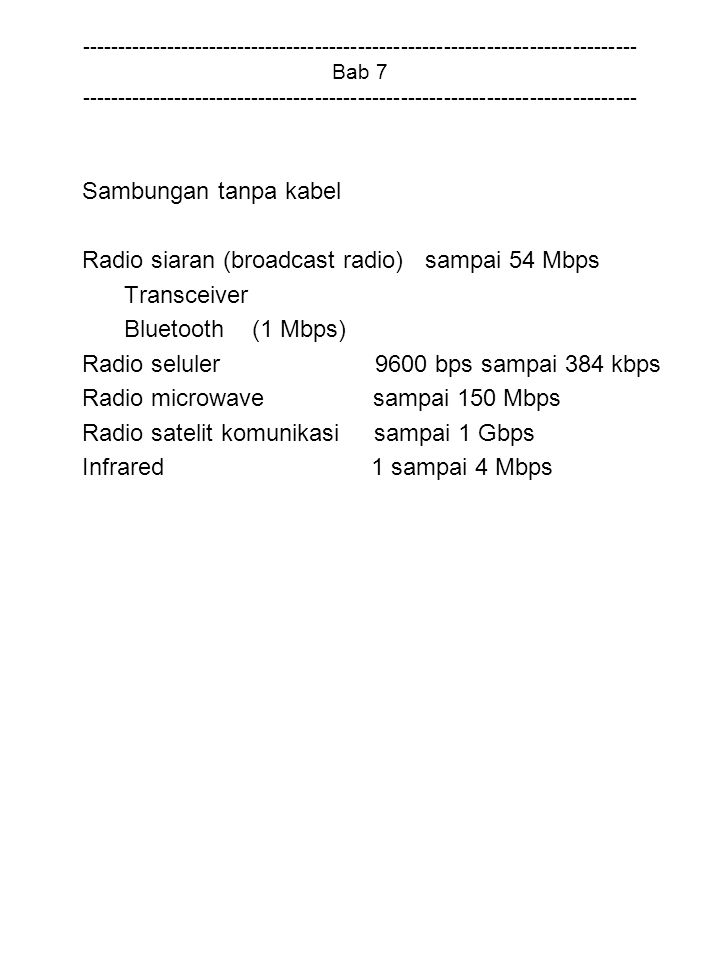 Radio siaran (broadcast radio) sampai 54 Mbps Transceiver