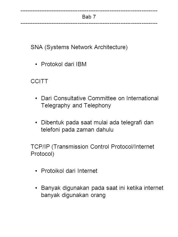 SNA (Systems Network Architecture) Protokol dari IBM CCITT