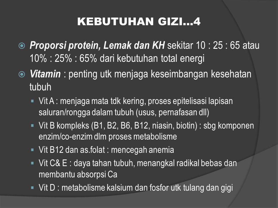 Vitamin : penting utk menjaga keseimbangan kesehatan tubuh
