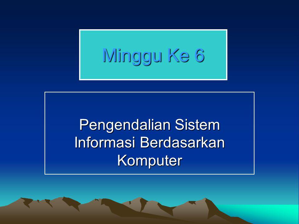 Pengendalian Sistem Informasi Berdasarkan Komputer