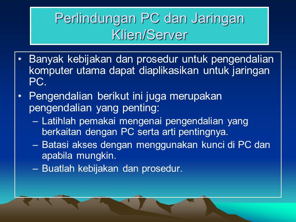 Perlindungan PC dan Jaringan Klien/Server