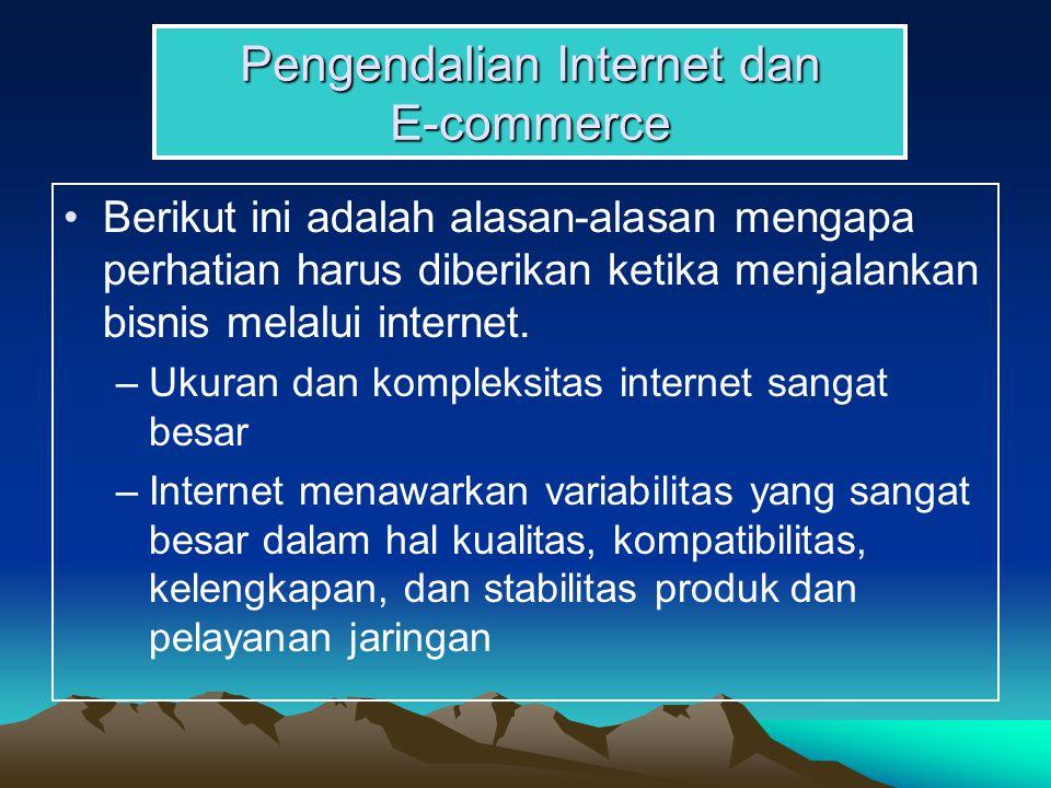 Pengendalian Internet dan E-commerce