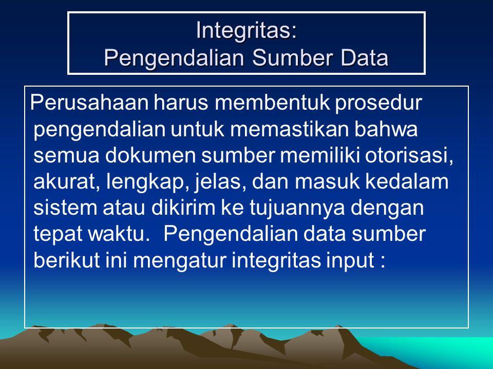 Integritas: Pengendalian Sumber Data