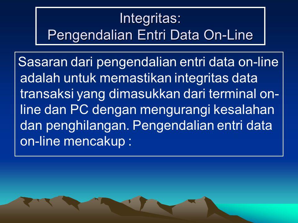 Integritas: Pengendalian Entri Data On-Line